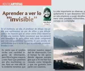 "Aprender a ver lo ""invisible"""